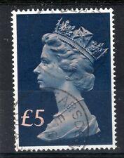GB = POSTMARK - QE2 era, `BEARSDEN / GLASGOW` Single Ring. £5 Tall Machin.