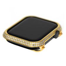 Metal Diamond case bezel cover compatible apple watch series 4 44mm Gold