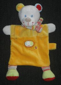 Nicotoy Simba Bär Schnullerhalter orange Kuscheltuch Schmusetuch Schnuffeltuch