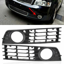 Left & Right Bumper Lower Grill Fog Light Grilles Cover for AUDI A4 B6 02-05 CT