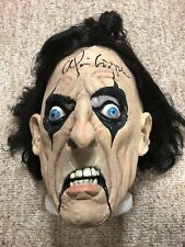 ALICE COOPER AUTOGRAPHED SIGNED LICENSED MASK WITH EXACT SIGNING PICTURE PROOF