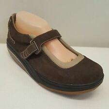 MBT Rockeros Zapatos Marrones 9.5 Cuero Suizo Diseñado Mary Jane Comodidad