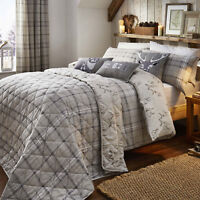 Ludlow Natural Brushed Cotton Bedding. Choice of Duvet Set Throw or Cushion