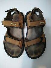 Teva Mens Katavi 4138 Sport Hiking Sandals Size 9 Tan Brown Nubuck Leather