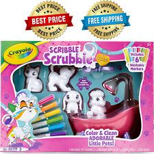 Scribble Scrubbie Pets Scrub Tub Animal Toy Set, Gift Age 3+