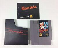 Vtg Super Mario Bros. Rare NES Nintendo game  Manual Authentic Sleeve 5 Screw