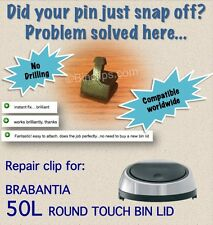 Repair / fix bin lid clip / striker 50L Brabantia touch bin / trash can no drill