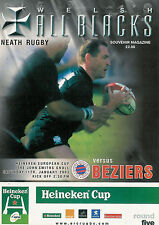 NeathvBeziers - European Cup 11 Jan 2003 RUGBY PROGRAMME