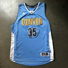 Mens Adidas Swingman Denver Nuggets Kenneth Faried Powder Blue Home Jersey Sz XL