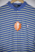 Mens RALPH LAUREN Polo Shirt DANDY STRIPED LOOSE RELAXED Fit CASUAL SPORT XL P10