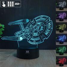 Star Trek USS Enterprise 3D Acrylic LED Night Light Touch Table Desk Lamp