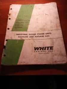 White Engines 4 and 6, Gasoline & Natural Gas Units Parts List Manual (1985)