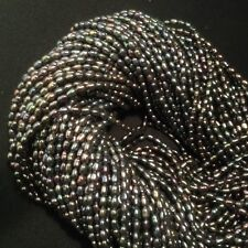 Fresh Water Pearl, Silver Blue Rise 3x4mm  15.5'' WP420-4.