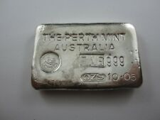Vintage Silver Bar. 10.05 oz The Perth Mint - 10oz odd weight example - Type A