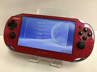 Sony PlayStation PS VITA Console Wi-Fi Model Red PCH-1000 ZA03 Japan F/S USED