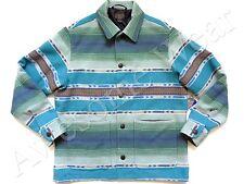 New Pendleton 100% Wool Southwestern Blue Stripe Yaquina Bay Jacket sz M