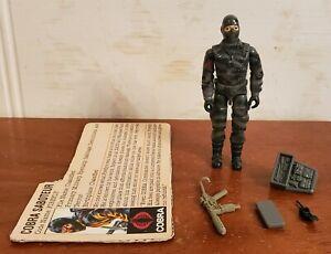 Vintage GI Joe Figure 1984 Firefly with file card