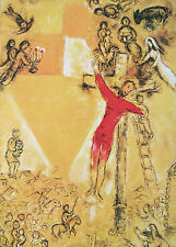 """Marc CHAGALL VINTAGE STAMPA montata, CROCIFISSIONE, XXe Siècle 38, 1973, 16 x 12"""""""