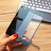 Black Front Back Mirror Tempered Glass Screen Protector Case For Apple iPhone 7