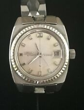 Vtg Seiko Automatic Self Wind Date Just Ladies Watch Stainless Runs Works RT61