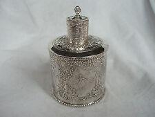 Tea Caddy Victoriano Plata Esterlina Londres 1894 (Import)