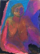 JEANNE MODIGLIANI (1918-1984) COMPOSITION EROTIQUE NU ABSTRAIT SIGNE VERS 1980 6