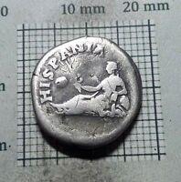 Antique Coin SILVER HADRIAN Hadrianus ROMAN DENARIUS Travels to SPAIN 134AD#0229