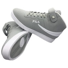 NWT FILA VULC 13 AUTHENTIC MEN'S GRAY WHITE MID PLUS HI TOP SNEAKERS SIZE 8.5