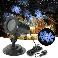 Christmas Snowflakes Laser Projector LED Lamp Outdoor Garden Waterproof Light UK