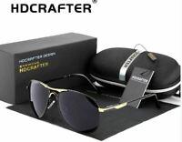 HDCRAFTER Metal Frame Mirrored Polarized Aviator Sunglasses for Men/Women New!