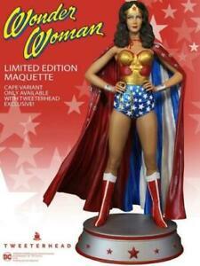 Wonder Woman Maquette Tweeterhead Lynda Carter Exclusive Cape Version  Preorder