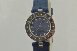 Bulgari B-Zero Women's Watch 22MM Steel BZ22S Pearl Nice Condition RAR Mop