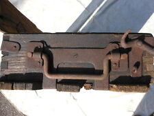 alte Holzkiste Frachtkiste Truhe Holztruhe Munitionskiste mit Eisen Beschlägen