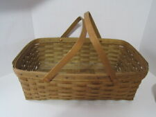 Vintage 1983 Longaberger Market Basket With 2 Handles