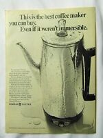 1970 Magazine Advertisement Page General Electric Immersible Coffee Pot Maker Ad