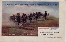 #MILITARI: BICCHIERATA IN ROMA 1904- GLI UFF. DEL 3° REGG. BERSAGLIERI AI COLLEG