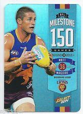 2014 Champions AFL Milestone Game (MG8) Matt MAGUIRE Brisbane