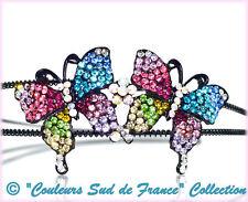Diadème serre-tête papillon strass multicolor enfant