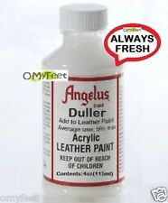 Angelus Paint Duller Finish for Acrylic Leather Paint Non-Glossy Finisher 4oz