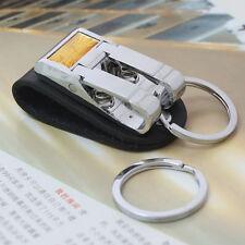 Detachable 2 Loops Leather Clip on Waist Belt Strap Keyring Keychain Key Ring
