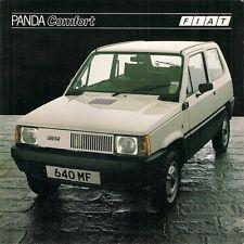 FIAT PANDA 45 Comfort 1982-83 UK Opuscolo Vendite sul Mercato PIEGA