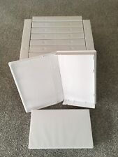 SMALL BOX / SELL THROUGH **BRAND NEW** WHITE VIDEO CASES X 12, RE-CASE, PRE-CERT