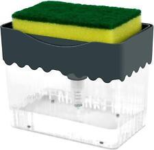 Dish Soap Dispenser For Kitchen Refillable Liquid Soap Dispenser With Sponge
