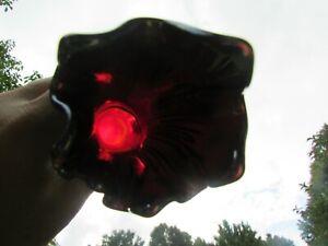 Fenton FINE RIB ANTIQUE CARNIVAL ART GLASS VASE~RED~SCARCE COLOR & ITS PRETTY!