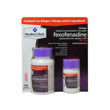Member's Mark Aller-Fex Fexofenadine Allergy Medicine 180 Mg 120 Tablets