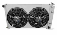 "Chevy Nova Custom Aluminum Radiator Fan Shroud & 2-12"" Fans 17 x 26 1/4 #162"