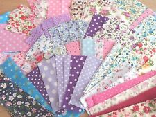 Fabric Remnant Pieces Patchwork Card making Scrap booking Bundle 100 Pieces !!