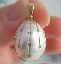 Ltd Ed 18K Gold on Silver Argyle Diamond Moscow Egg Pendant Fully Certified