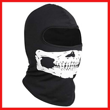 TRIXES Unisex Full Head and Face Skull Balaclava - Black and White - One Size
