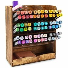 Wooden Desk Organizer For Pens Markers Office Supplies 85 X 10 X 37 In